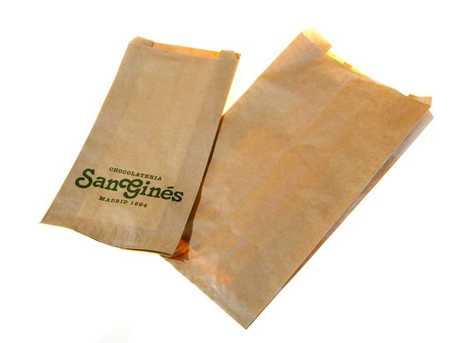 bolsas-papel-kraft-para-churros-personalizada Papel y Bolsas tienda online papelbolsas.com